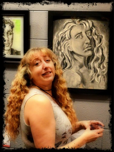 Artist Carolyn Greeneer, Photo by Ron Lash